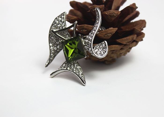 Fancy Pins Rhinestone Starfish Brooch Jewelry Accessories For Anniversary